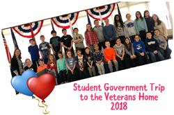 Student Government Visits Veterans Home