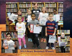 2016 Library Bookmark Contest Winners