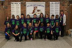 CLASS 3-5 SHOWS OFF THEIR NEW CLASS SHIRTS