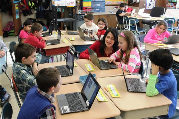 Chromebooks in Mrs. Trapanotto's Class 3-4