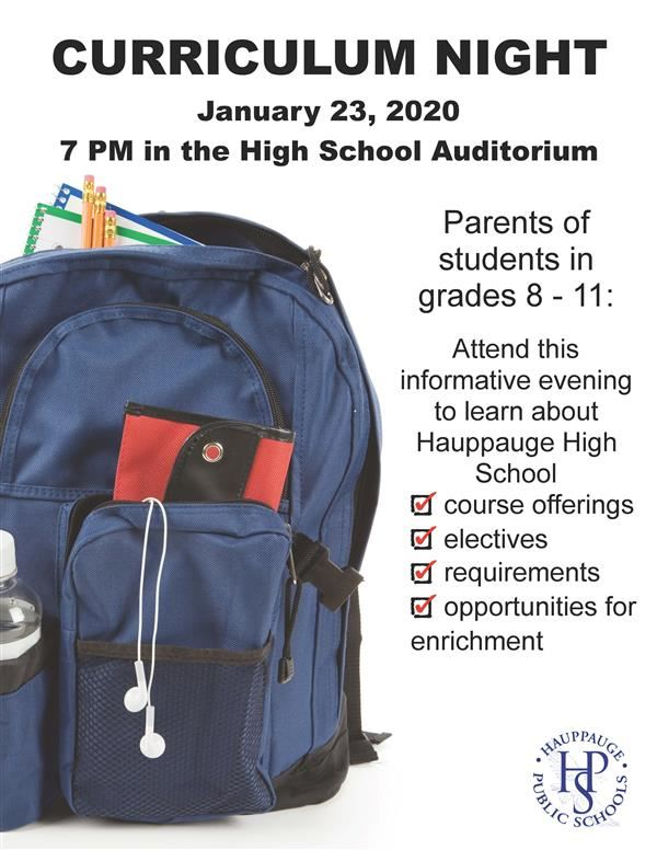CURRICULUM NIGHT 1.23.20