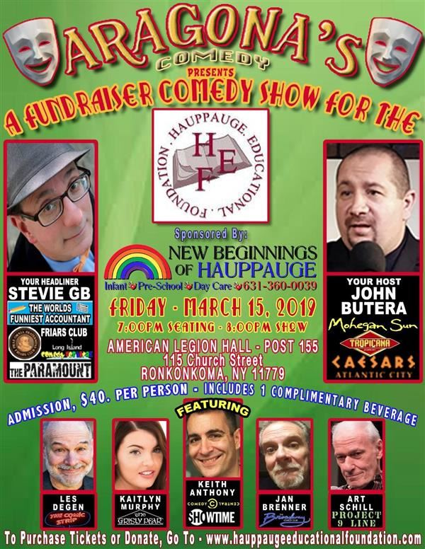 SAVE THE DATE !  HAUPPAUGE EDUCATIONAL FOUNDATION FUNDRAISER COMEDY SHOW !