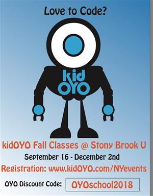 kidOYO Fall Classes at Stony Brook University!  Register Now!!!!