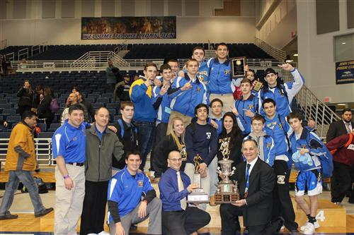 Hauppauge's Wrestling Team Crowned Suffolk County Team Champs!