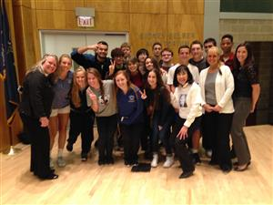 "Hauppauge Students Attended SBU's ""Icons of First Amendment Freedom Speak Out Live!"""