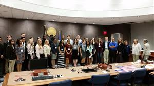 Hauppauge Seniors Participate in Inaugural Student Day at Suffolk County Legislature