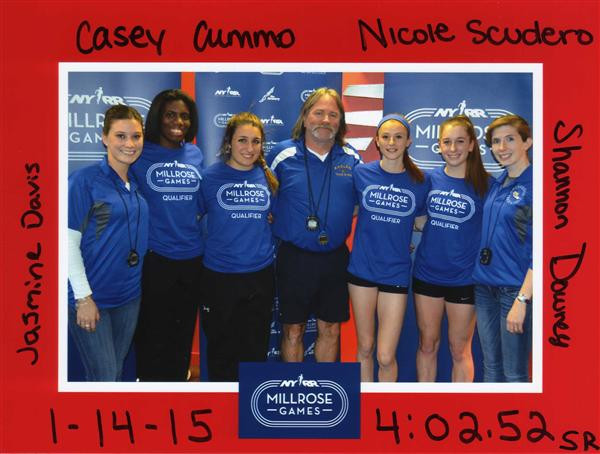 HHS Girls Relay Team Breaks Hauppauge Record in Exciting Finish