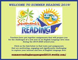 WELCOME TO SUMMER READING 2019!